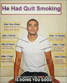 What Happens When You Quit Smoking - Health Facts~ wow!!