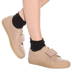 Adriana nude patent leather sneakers