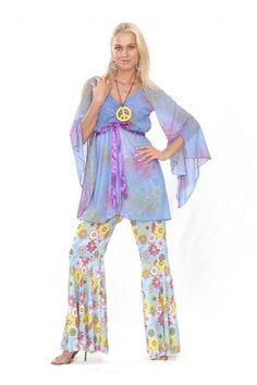 625bfa5c906 Déguisement flower power hippie femme. Hippie Fancy Dress ...