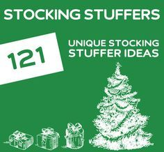 121 Unique Stocking Stuffers. THE holy grail for stocking stuffer ideas.