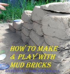 Adventures at home with Mum: Making a Mud Brick House – oooh now this looks fun! Outdoor Play Spaces, Outdoor Fun, Outdoor School, Outdoor Games, Backyard Playground, Playground Ideas, Mud Kitchen, Outdoor Classroom, Classroom Ideas
