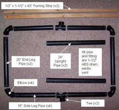 Easy plan for a pvc plastic stand. Just staple your targets to the the upright furring strips.