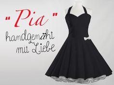 fd3de9fc5475 Neckholder Petticoat Kleid schwarz von Miss Bobby - Handgemachte Kleidung  und Accessoires auf DaWanda.com
