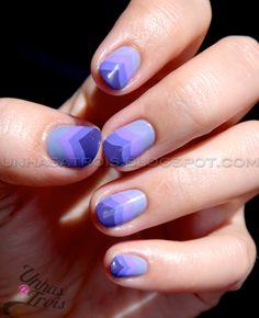 Purple Chevron Nails