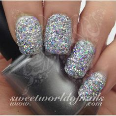 cc8485757b Nail Glitter Holographic Silver Sparkle Glitter Dust Powder Nail Art