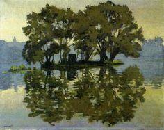 Albert Marquet - L'île aux cygnes, été, Herblay, 1919