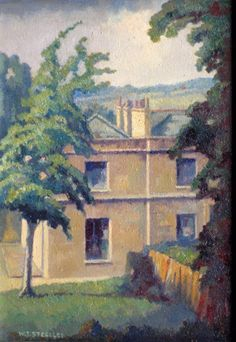 """I thought I'd start today with Mr Sickert's House, Bathampton which was Walter Steggles' tribute to the great man. Camden London, Camden Town, East London, Bow Art, Group Art, Surrealism, Folk, Landscape, Illustration"
