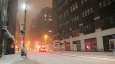 new york city streets at night snow - Google Search