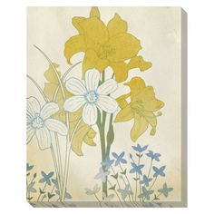 """Target: Tinted Washed Florals 1 Wall Decor - 20x24"""" (Online Item #: 10699837; Store Item # 241-14-0608) --> for a bathroom wall?"""