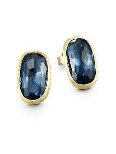 Marco Bicego 18K Yellow Gold & Diamond Stud Earrings - Gold - Size