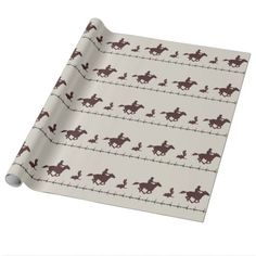 Barbed Wire Cowboy Gift Wrap