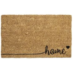 Home 18 in. x 30 in. Hand Woven Coconut Fiber Door Mat, Brown/Black