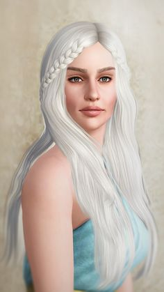 Daenerys Targaryen from Game of Thrones by Kurasoberina - Sims 3 Downloads CC Caboodle