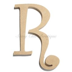unfinished wooden letter uppercase r curlz font