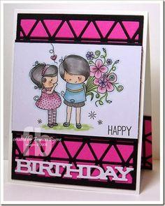 Happy Birthday created by Frances Byrne.