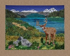 Landscape Quilt, 40 x 30, by Donna Cherry at Donna Cherry Designs