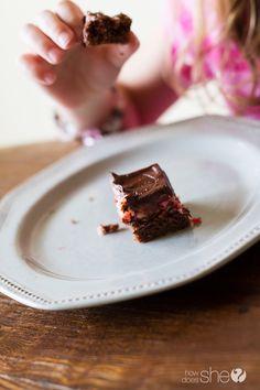 Maraschino Cherry Cheesecake Brownies (12)