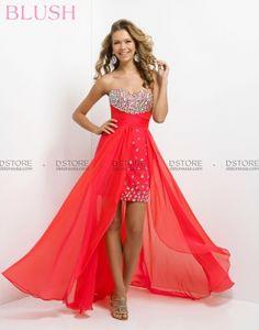 Vestido de Festa mini com cauda de chifon Fabiana II -  9740
