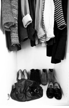 Foundation pieces goes a long way. Quality not quantity. The goal is to pare down to this much (little) in my closet.