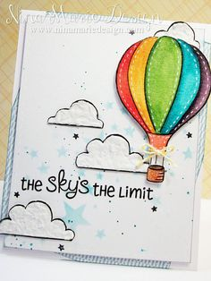 Lawn Fawn - Blue Skies _ beautiful Sky's the Limit card by Nina-Marie via Flickr - Photo Sharing!