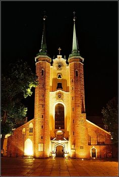 Cathedral by night - Gdansk, Poland