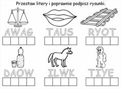 Użyj STRZAŁEK na KLAWIATURZE do przełączania zdjeć Cute Coloring Pages, Early Education, Speech And Language, Therapy, Reading, Speech Language Therapy, Polish, Early Childhood Education, Early Years Education