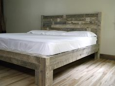 King Bed, King Headboard, Platform Bed, Reclaimed Wood Bed, Headboard, Queen, Twin, Full, Furniture, Distressed Bed by JNMRusticDesigns on Etsy