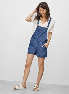 AZURE SKIES SENRYU ROMPER - Chambray overalls with an inexplicable ability to always look cute