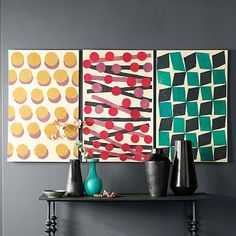 Papier-Mache Wall Art #westelm set of three is only $300 if you pick 3 individual..