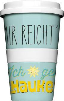 COFFEE-TO-GO Kaffeebecher MIR REICHT'S türkis #kaffeebecher #coffeetogo #trinkbecher #kaffeetasse #coffee