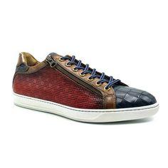 Zelli Brezza Men's Shoes Red Caiman Crocodile Print / Calf-Skin Leather Sneakers 65-209 (ZEL1212) Material:... Italian Sneakers, Mens Designer Shoes, Natural Rubber, Chuck Taylor Sneakers, Leather Sneakers, Crocodile, Calves, Men's Shoes, Men's Footwear