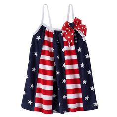Amazon.com: Sophie Rose Baby Girl Patriotic American Flag Pieced Sundress: Clothing