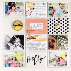 Project Life | Party Time. black  white with pops of pink  yellow.