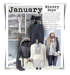 """""""January"""" by diva1023 ❤ liked on Polyvore featuring The North Face, M.i.h Jeans, Isabel Marant, Acne Studios, Kin by John Lewis, Inverni, Lands' End and Kate Spade"""