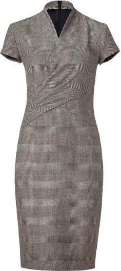 Lauren Ralph Lauren Glen Plaid Wool Dress -