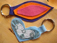 glue or sew key ring- easy for all children