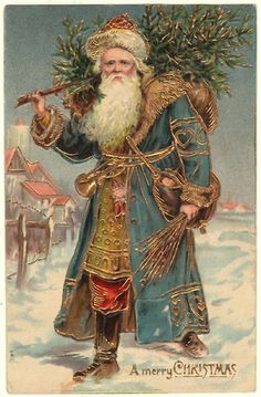 I am really fond of vintage images of Father Christmas!
