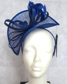 BNWT-M-S-Royal-Blue-Fascinator-Hat-Head-Piece-RRP-25-Electric-Cobalt