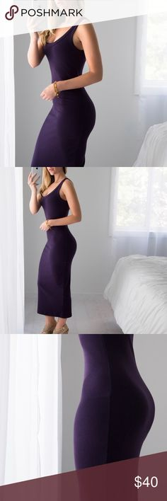 🆕Purple Sunrise Dress *LAST 1! ◽️I 💜fun colors in the summer! Gorgeous shade of purple in a flattering ribbed stretchy material. Length is a cross between midi and maxi (I am between 5'4 and 5'5).  Regular back and thicker straps so you can wear a normal bra. The straps have raw edges which I love. Very easy to walk in and comfortable. 🌅Perfect for an afternoon lunch outside or date night by the water! Cotton/poly/spandex. New. I am modeling S.  ▫️Price is firm, no offers 📷 Photos are my…