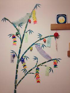 マステで壁に笹飾り☆ インテリア Interior