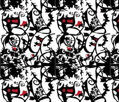 Little Red Riding Hood horizontal fabric by wendyg on Spoonflower - custom fabric