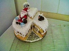 .: Christmas Santa themed cake