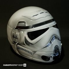 Stormtrooper Motorcycle Helmet ...far out, man...