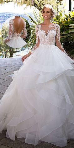 Fantastic Tulle Bateau Neckline Ball Gown Wedding Dress With Beaded Lace Appliques & Ruffles