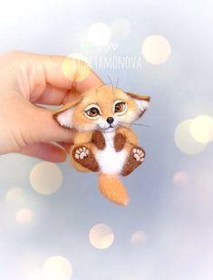 Crochet Baby Beanie, Crochet Headband Pattern, Crochet Teddy, Felt Crafts Patterns, Crochet Toys Patterns, Stuffed Toys Patterns, Needle Felted, Wet Felting, Felt Fox