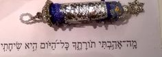 Tehiliem119:97  Torah made with Tyvek, paint, beads, stitches etc.