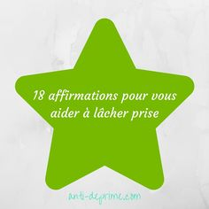 Je vous invite à découvrir aujourd'hui 18 affirmations pour nous aider à lâcher prise. Vie Positive, Positive Attitude, Positive Affirmations, Meditation, New Soul, Miracle Morning, Happy Minds, French Quotes, Love Life