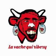 Le visuel : La vache qui Ribery -