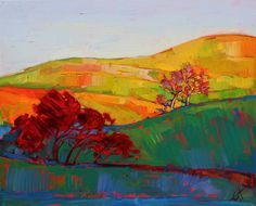 Paso Robles wine country impressionism oil painting by Erin Hanson