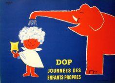 サヴィニャック モンサヴォンのシャンプーの広告「清潔な子どもの毎日」